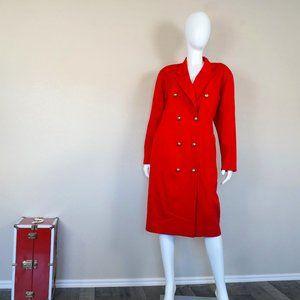 Saks Fifth Avenue Red Tuxedo Jacket Dress